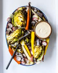 Serve tahini dressing with roasted vegetables to make it a meal.(Rebecca White/Special Contributor)