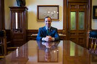At age 36, Whitley directs 203 state employees and is a member of Gov. Greg Abbott's inner circle. Abbott aides say it's like a family.(Ashley Landis/Staff Photographer)
