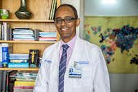 """Dr. Mehari Gebreyohanns, a UT Southwestern neurologist, coined a term for """"stroke"""" in Amharic, a language spoken by native Ethiopians.(Carly Geraci/Special Contributor)"""