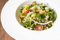 Crispy Rice Salad is among dishes served at Chris Shepher's UB Preserv(Julie Soefer Photography)