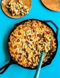 Lamburger Helper is one of the cast-iron specialties served at Chris Shepherd's new Houston steakhouse, Georgia James.(Julie Soefer/Julie Soefer Photography)