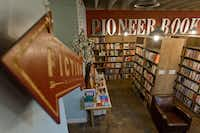 Pioneer Book in downtown Provo, Utah, fills its two-level shop with used, signed and rare books. A room upstairs showcases local art and hosts folk music jams. (Evan Cobb/The Washington Post)