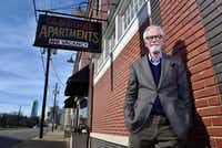 Restaurateur Shannon Wynne outside his offices on South Harwood street in Dallas on Jan. 21, 2019.(Ben Torres/Special Contributor)