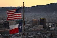 The skyline of El Paso and Ciudad Juarez, Mexico, is seen on Jan. 19, 2019 in El Paso.(Joe Raedle/Getty Images)