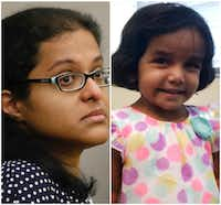 Sini Mathews and 3-year-old Sherin Mathews