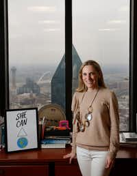 Nicole Small, president of Lyda Hill Philanthropies, poses for a photograph at her office in Dallas on Friday, March 1, 2019.(Rose Baca/Staff Photographer)