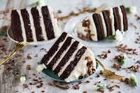 A Guinness cake with Irish cream cream cheese icing.(Ashley Landis/Staff Photographer)