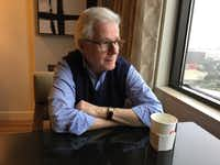 Author Thomas Mallon, whose new book is <i>Landfall</i>, about the George W. Bush presidency. Photographed in Dallas in February, 2019.(Michael Granberry/Staff)