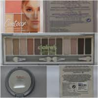 <p>The products affected are (top to bottom) Claire's Contour Palette, Eye Shadows and Compact Powder.</p>(FDA)