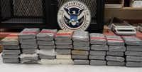 Packages containing 111 pounds of cocaine were seized Friday at the Colombia-Solidarity Bridge.(U.S. Customs and Border Protection)