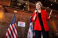 2020 Democratic presidential candidate Sen. Elizabeth Warren speaks to local residents during an organizing event on March in Dubuque, Iowa. (Charlie Neibergall/The Associated Press)