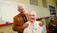 Rep. Ralph Hall introduced his oldest supporter at the time, Mable Dalton, 96, at an election night party at his Rockwall headquarters in March 2004.(File 2004/Special contributor)