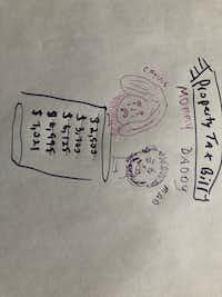 Stick drawing by Dave Lieber who says even a basic drawing might be worth a thousand words.