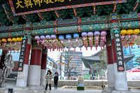 Jogyesa Temple is a Buddhist sanctuary in the Seoul district of Insadong. The city has subway signs and museum labels in English as well as other languages, making it easy to get around. (Christopher Reynolds/Los Angeles Times)