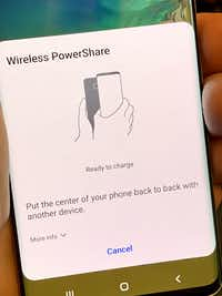 The S1o and S10+ can wirelessly charge other Qi-compatible devices.(Jim Rossman)
