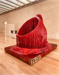 Sterling Ruby,<i> The Cup</i>, 2013, foam, urethane, wood and spray paint, 92 x 115 1/2 x 88 in. (Nan Coulter)