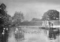 Exall Lake, Highland Park (undated photo)