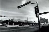 Crossroads Market stands on the corner of Cedar Springs and Throckmorton in 1991.(Staff/The Dallas Morning News)