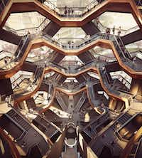 Interior view of The Vessel at Hudson Yards(Forbes Massie-Heatherwick Studios)
