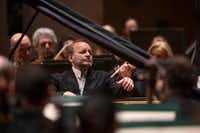 Piano soloist Louis Lortie performs during a Dallas Symphony Orchestra concert at Meyerson Symphony Center in Dallas on March 14, 2019.(Shaban Athuman/Staff Photographer)