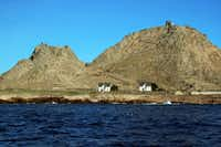 The only human-inhabited island in the archipelago is Southeast Farallon Island, where two windblown dwellings house researchers. A lighthouse sits atop the island's summit. (Erin E. Williams/The Washington Post)