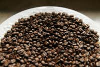 Sweet Maria's Brazil Dry Process Serrinha Yellow Bourbon roasted coffee beans.(Vernon Bryant/Staff Photographer)