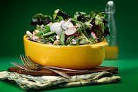 Spring Salad with Grilled Chicken and Elderflower Vinaigrette(Tom Fox/Staff Photographer)