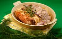 Braised Pork Tenderloin with Elderflower(Tom Fox/Staff Photographer)