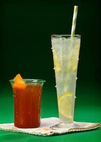 Elderflower New Fashioned Sparkling (left) and Elderflower Lemonade(Tom Fox/Staff Photographer)