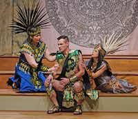 <p>American Baroque Opera Company's Aztec characters in Antonio Vivaldi's opera <i>Montezuma</i>&nbsp;were costumed in flamboyant quasi-native attire designed by Arturo Hernandez.&nbsp;</p>(Karen Almond/American Baroque Opera Co.)
