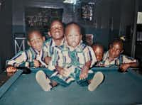 Arthur Jackson said this family photo was taken more than 20 years ago inside JR's Game Room, and that's him sitting on the table when he was 2 or 3 years old.(Arthur Jackson)