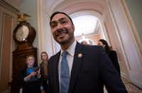 The early sparring signals a bruising Senate race, should U.S. Representative Joaquin Castro choose to run against incumbent Sen. John Cornyn.(J. Scott Applewhite/The Associated Press)