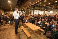 Democratic presidential candidate Beto O'Rourke arrives at a meet and greet at Tuckerman Brewing on March 20, 2019 in Conway, New Hampshire. After losing a long-shot race for U.S. Senate to Ted Cruz (R-TX), the 46-year-old O'Rourke is making his first campaign swing through New Hampshire after jumping into a crowded Democratic field. (Scott Eisen/Getty Images)