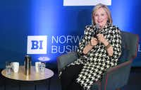 Hillary Clinton attends the Gender Equality Conference at BI Business School on March 8, 2019 in Oslo, Norway.(Rune Hellestad/Getty Images)