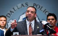 Dallas Police Sgt. Mike Mata, president of the Dallas Police Association(Ashley Landis/Staff Photographer)