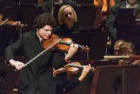 Violinist Augustin Hadelich performed with the Dallas Symphony Orchestra at the Morton H. Meyerson Symphony Center in October 2016. (Rex C. Curry/Special Contributor)