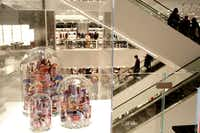People gather inside Neiman Marcus, at the opening of Hudson Yards in Manhattan, New York on Friday, March 15, 2019. (Yana Paskova/Special Contributor)(Yana Paskova/Dallas Morning News)