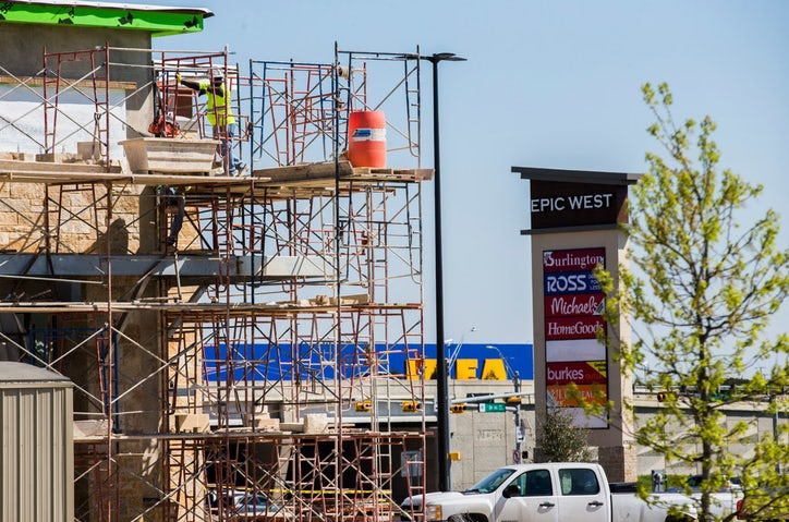 Retail S Are Under Construction Near The New Ikea At Intersection Of State Highway 161 And Mayfield Road In Grand Prairie