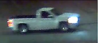 Police released this image of a white pickup they say was involved in the shooting death of Daniel Aleman.(Dallas Police Department)