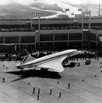 Shot September 20, 1973 - The Concorde supersonic jet, built by Great Britain and France, makes its first United States visit to the new Dallas-Fort Worth Regional Airport for opening day festivities(Staff/The Dallas Morning News)