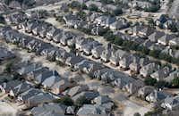 Homes in Frisco.(Vernon Bryant/Staff Photographer)