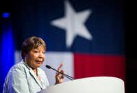 """<p>Dallas Rep. Eddie Bernice Johnson said she and other Democrats are """"aware of how distorted our judiciary has become.""""</p>(Ashley Landis/Staff Photographer)"""