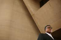Dwaine Caraway in front of Dallas City Hall(File Photo/Staff)