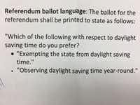 This is the ballot language for Rep. Lyle Larson's proposed constitutional amendment that would eliminate clock changes in Texas.