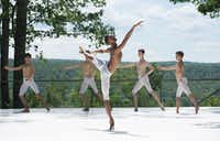 My'Kal Stromile performed at the 2017 Jacob's Pillow Dance Festival.(Brooke Trisolini/Courtesy Jacob's Pillow Dance)