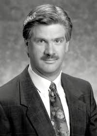 Richard Ray, a FOX 4 (KDFW-TV) news anchor and reporter, is shown in a portrait, circa 1991. Ray is a Minnesota native who grew up in a small farming community and arrived at KDFW-TV in 1983.(FOX 4/(KDFW-TV))