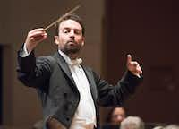 Conductor James Gaffigan, shown in a November 2017 performance by the Dallas Symphony Orchestra, returns April 11 to 13.(Rex C. Curry/Special Contributor)