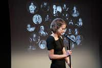Erin Barker, artistic director of the science storytelling podcast <i>The Story Collider</i>.&nbsp;(Carly Hoogendyk/Special Contributor)