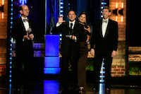 Kevin Moriarty and the Dallas Theater Center accept the regional theater Tony Award at Radio City Music Hall in New York City on June 11, 2017.(John P. Filo/CBS)