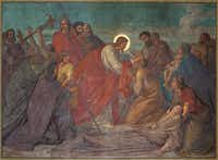 "<p><span style=""font-size: 1em; background-color: transparent;"">A 19th century fresco of Jesus healing the sick in St. George's church in Antwerp</span></p>(Getty Images)"